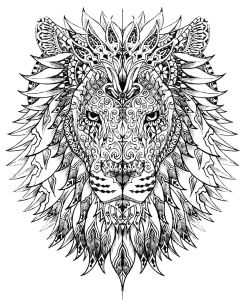 coloring-adult-difficult-lion-head